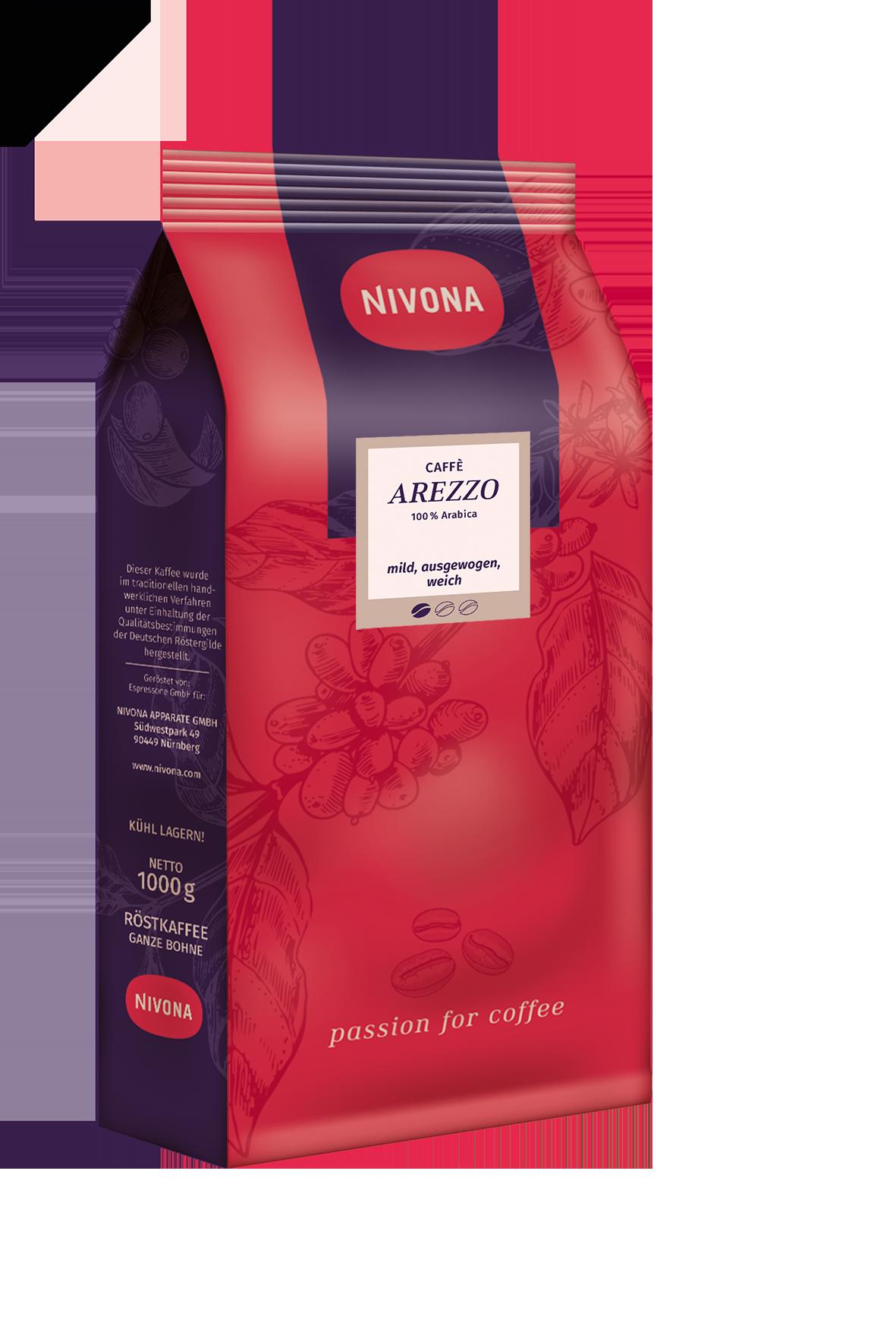"""CAFFÈ AREZZO (100 % kalnų šlaituose užauginta """"Arabica"""")"""